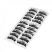 10 Pairs 32 x 15mm Black Lady Girl False Fake Eye Lashes Eyelashes