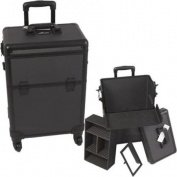 Sunrise E6301DTAB All Black Dot 4-Wheels Case - E6301