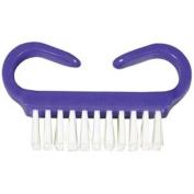 DUKAL Corporation NB3381 Nail Brush, Purple Handle, white nylon bristles