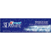 Crest 3D White Foaming Clean Fluoride Anticavity Toothpaste, 160ml