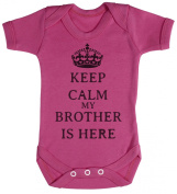 TRS - Calm Brother is Here Baby Bodysuit / Babygrow 100% Cotton