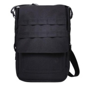 Padded Canvas Tech Bag w/MOLLE- Holds iPad, Android, and Similar Tablets, Black
