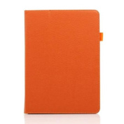 For Apple iPad 5 Air Magnetic PU Leather Folio Stand Case Cover Stylus Holder - Orange