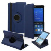 GEARONIC For for Samsung Galaxy Tab PRO 8.4 T320 PU Leather Smart Rotating Case Wake/Sleep - Dark Blue