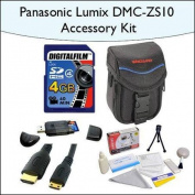 4GB Accessory Package for Panasonic DMC-ZS10 Including 4GB SDHC High Speed Memory Card, Vanguard Sydney-6B Compact Digit