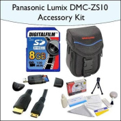 8GB Accessory Package for Panasonic DMC-ZS10 Including 8GB SDHC High Speed Memory Card, Vanguard Soft Leather Carrying Case, Mini HDMI Cable and More!
