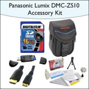 16GB Accessory Package for Panasonic DMC-ZS10 Including 16GB SDHC High Speed Memory Card, Vanguard Sydney-6B Compact Dig