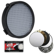 ExpoDisc 2.0 82mm White Balance Filter with 5-in-1 Collapsible Reflector Disc + Cleaning Cloth