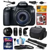 """Canon EOS 60D 18 MP CMOS Digital SLR Camera with 18-135mm f/3.5-5.6 IS UD Lens includes 16GB Memory + 2.2x + 0.43x Lens + Hood + UV-CPL-FL Filters + 67"""" Monopod + Cleaning Kit + $50 Gift Card 4460B004"""