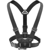 USA Gear Chest Mount Harness for Action and Compact Cameras with Universal J Hook and Tripod Screw Adapter - Works with GoPro, Sony, Ricoh, MeGooDo and More