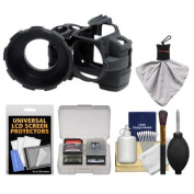 MADE Rubberized Camera Armour Case for Nikon D3000 (Black) with Spudz + Cleaning Kit