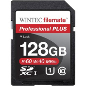 Wintec Filemate Professional Plus 128GB SDHC UHS-1 Memory Card Class 10