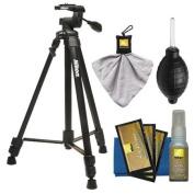 Nikon 150cm Full Size Tripod with 3-Way Panhead (Black) + Cleaning Kit for D300s, D90, D60, D5000, D7000, D40 & D3000 Digital SLR Cameras, Lenses, Binoculars & Scopes