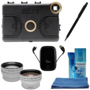 Melamount MM-IPADMINI Video Stabiliser Pro Multimedia Rig for Apple iPad Mini with Wide/Tele Lens + Power Pack + Kit