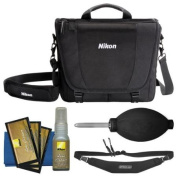 Nikon 17007 DSLR Camera Courier Bag with Sling Strap + Kit for D3200, D3300, D5300, D5500, D7100, D7200, D610, D750, D810