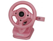 Impecca WC100P Wc100 Steering Wheel Webcam With Built-in Mic Pink
