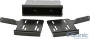 Scosche NN1678B 2013 and Up fits Nissan Titan Double DIN or DIN with Pocket, Black