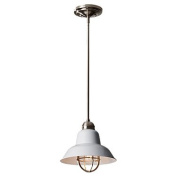 Feiss P1239BS-GW Urban Renewal 1-Light Mini Pendant - Brushed Steel - Glossy White