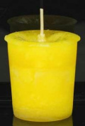 AzureGreen CVHPOS Positive Energy Herbal Votive Candle in Yellow