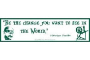 AzureGreen EBBEC Be The Change you Want to See in The World Bumper Sticker