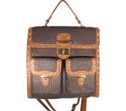 Aryana Shira2brn Junior Womens Brown Top Flap Shira Convertible Tote Backpack