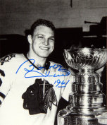 Autograph Authentic flat-8x10-hull-cup Bobby Hull Autographed 8X10 Photograph - Chicago Blackhawks - Stanley Cup