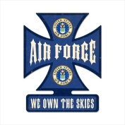 Past Time Signs IC013 Air Force Allied Military Iron Cross Metal Sign