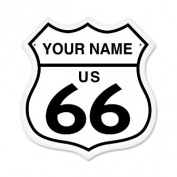 Past Time Signs PV030 Route 66 Street Signs Shield Metal Sign 0.9kg.