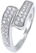 Doma Jewellery MAS02424-7 Sterling Silver Ring with Micro Set Cubic Zirconia - Size 7
