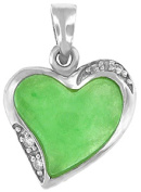 Doma Jewellery MAS01803 Sterling Silver and Jade Pendant with CZ
