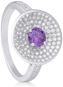 Doma Jewellery MAS09373-8 Sterling Silver Ring with Micro Set Cubic Zirconia Size 8