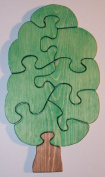 THE PUZZLE-MAN TOYS W-1130 Wooden Educational Jig Saw Puzzle - Tree