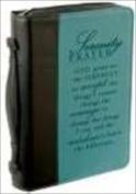 Christian Art Gifts 369373 Bi Cover Serenity Large Black Aqua Two Tone Luxleather