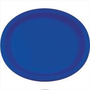 Creative Converting 433147 25cm X 30cm . Cobalt Oval Platters Paper - Case of 96