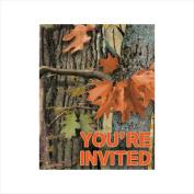 Creative Converting 895676 Hunting Camo - Invitation & Foldover - Case of 48