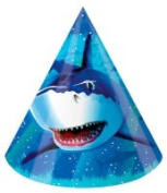 Creative Converting 205887 Shark Splash - Paper Party Hats Child Size - Case of 48