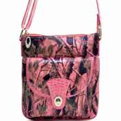Ritz Enterprises MS101-PK Western Camouflage Crossbody Messenger Bag Purse - Pink