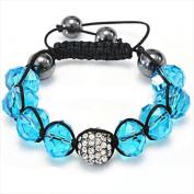 Best Desu 17083 Shambala-Style Crystal Bracelet Dark Sapphire