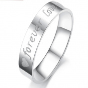 ES Jewel GJ030B7 Stainless Steel Forever Love Ring - Size 7 Womens