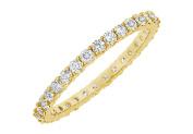 Fine Jewellery Vault UBGG14YRD1311000D Diamond Eternity Bangle 14K Yellow Gold 10 CT Diamonds