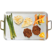 Chefmaster KTBQGT3 Stainless Steel Bbq Grill Tray- Large