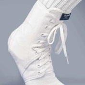 Fla 40-4111SSTD Mcdavid Ankle Guard With Optional Inserts White Extra Small