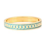 C Jewellery Gold-Turquoise Enamel Metal Chain Bracelet