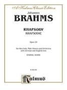 Alfred 00-K06108 BRAHMS ALTO RHAPSODY V