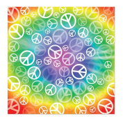 Beistle 60868 Peace Sign Bandana Pack Of 12