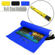Lavievert Giant Blue Big Felt Mat for Puzzle Storage Puzzles Saver, 3000-piece Jigsaw Puzzle Mat, Long Box Package, No Folded Creases, Environmentally Friendly