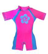Girls Pink/blue Floating Swimsuit Sun Protection Swim Suit Spf+50 Flotation Suit Size Large for Kids Age 5.5-7.5 Years Old