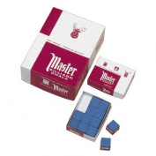 Master Billiard/Pool Cue Chalk, Gross Box, 144 Cubes