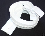 Bimini Top #10 White Marine Double Pull Zipper 90cm