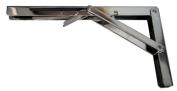 Amarine-made Polished Stainless Steel Folding Shelf Bench Table Folding Shelf or Bracket, Max Load